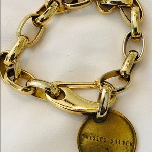 twisted silver Jewelry - Large chain gold bracelet by Twisted Silver